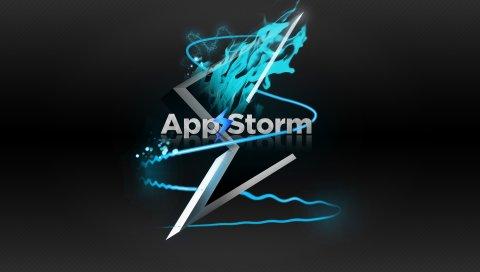 Приложение буря, яблоко, макро, дождь, вода, синий, черный