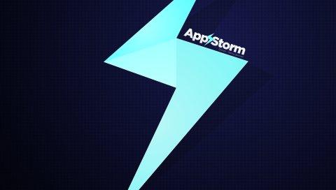 App store, apple, mac, фиолетовый, молния