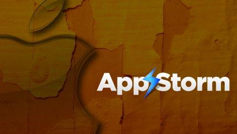 Приложение буря, яблоко, макро, бумага, картон, символ