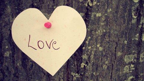 Сердце, любовь, дерево, чувство