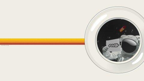 Fwa, космонавт, костюм, белый, желтый, ракета