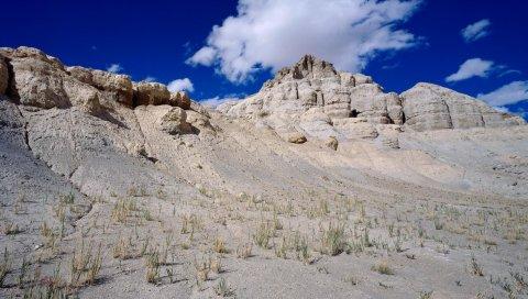 Азия, горы, песчаный, трава, растительность
