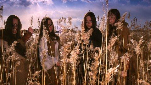 Ensiferum, поле, дневной свет, небо, облака