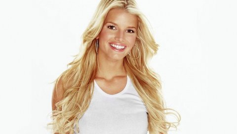Джессика Симпсон, улыбка, блондинка, свет, серьги