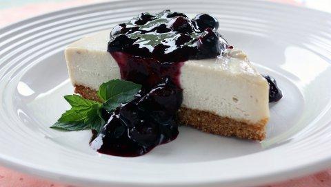 Пирог, варенье, сладкий, десерт, смородина