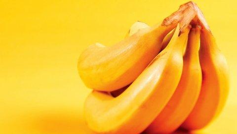 Бананы, фрукты, спелые, желтые