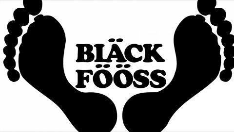 Черный fooss, font, feets, footsteps, name