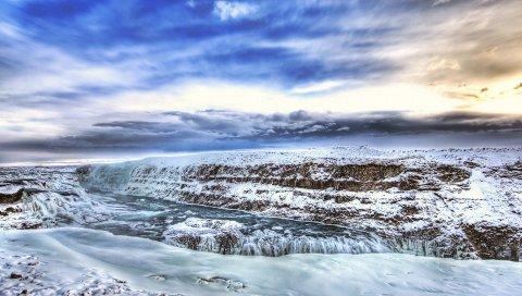 Горы, скалы, лед, холод