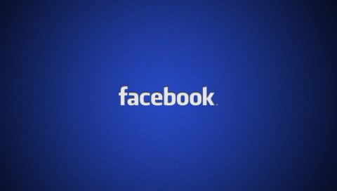 Facebook, социальная сеть, логотип, синий