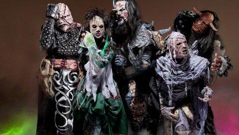 Lordi, костюмы, образ, взгляд, темнота