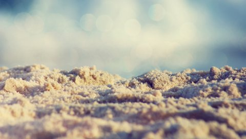 Песок, небо, свет, синий
