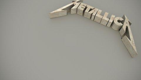Metallica, 3d, имя, фон, шрифт