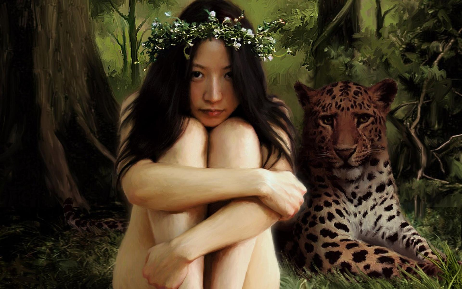 Все картинки девушек и диких кошек