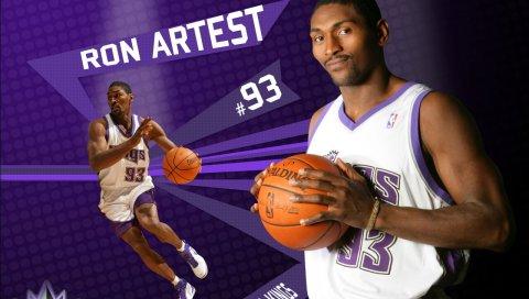 Ron artest, баскетбол, мяч, форма