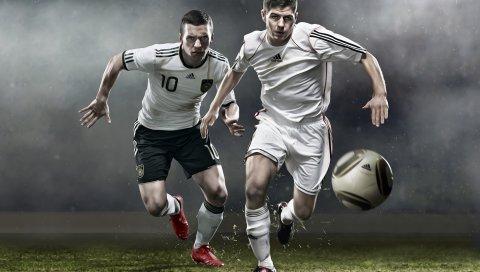 Футболисты, мяч, мужчины, форма