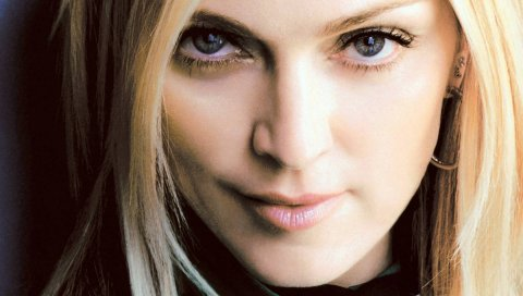 Мадонна, лицо, взгляд, глаза, серьга