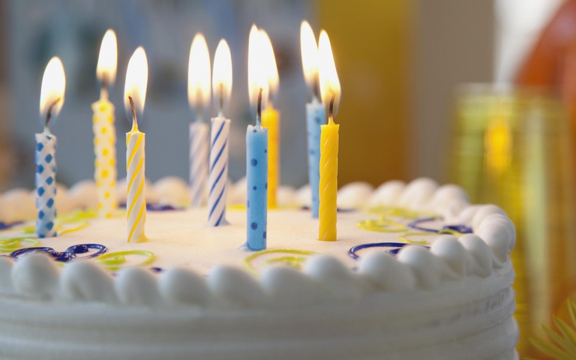 Картинки Пирог, свечи, день рождения фото и обои на рабочий стол