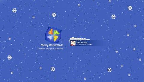 Новый год, рождество, Санта-Клаус, почта, письма