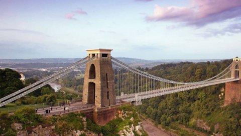 Мост, голубой, город
