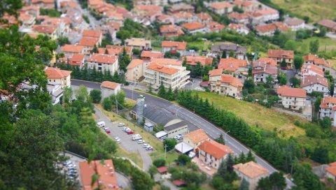 Город, поселок, дома, высота