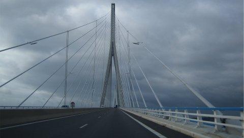 Миланский виадук, франция, мост, небо