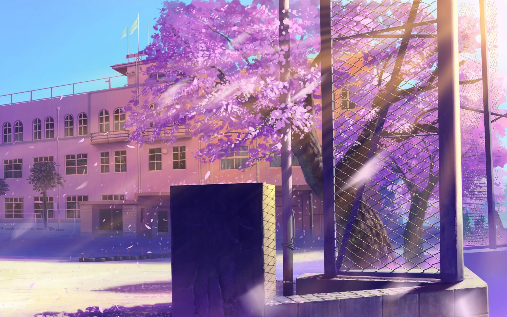 Картинки Аниме, школа, зимняя улица фото и обои на рабочий стол