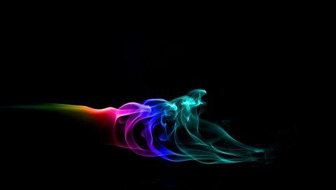 Дым, форма, яркий, яркий