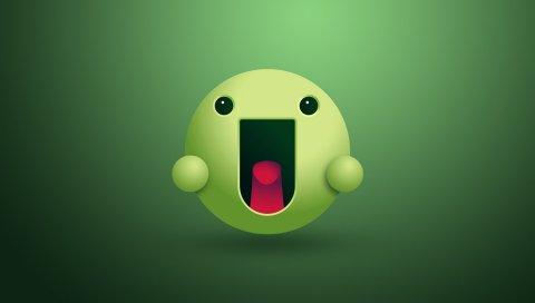 Лицо, язык, зеленый, люди