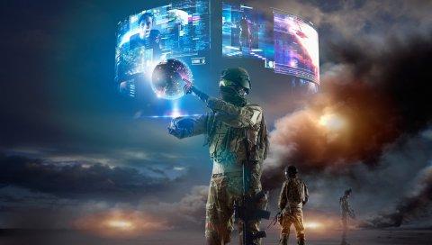 Военные, реальность, виртуальные