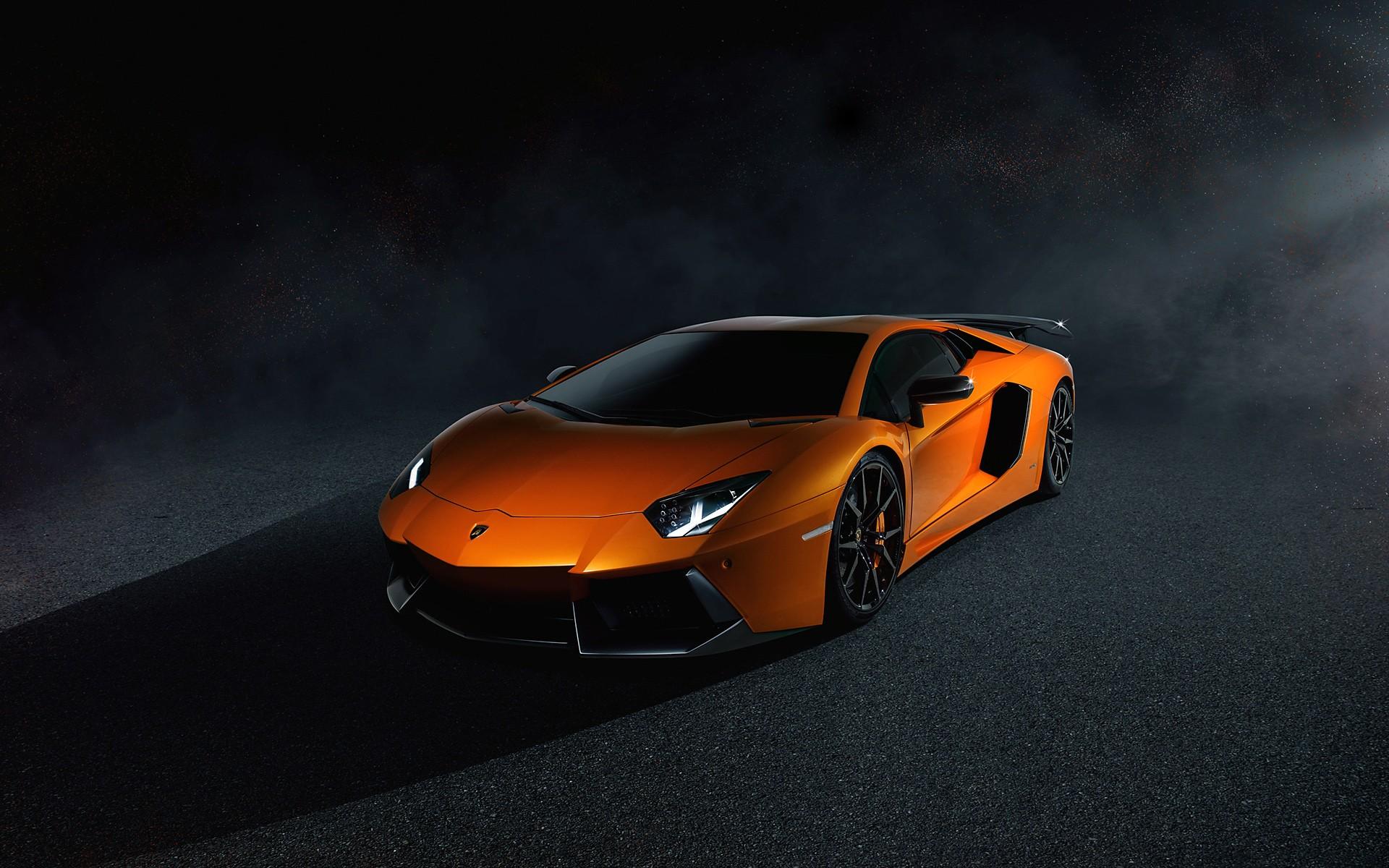 Картинки Оранжевый, Lamborghini, Aventador, LP700 фото и обои на рабочий стол