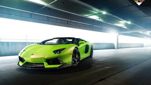 Lamborghini, Roadster, Vorsteiner, Aventador, 2014, Verde, Итака