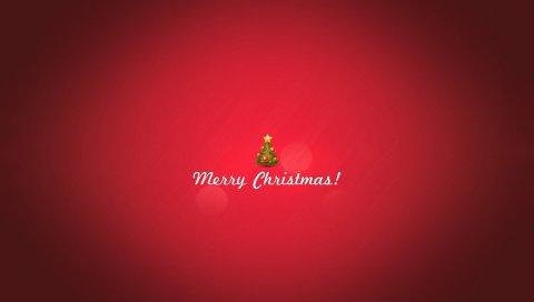 Красивая, дерево, Рождество