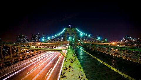 Мост, Бруклин, Ночи