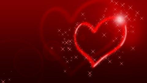 Сердце, блеск