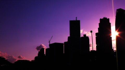 Закат, городской