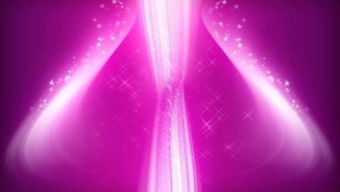 Розовый, светящийся, абстрактный