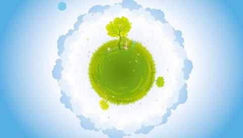 Зеленый, Земля, вектор